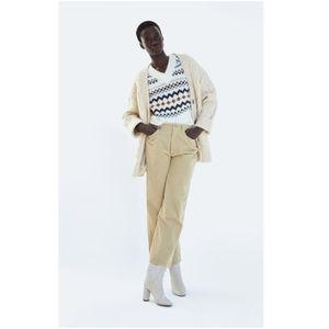 NWT Zara Size 8 Cream Corduroy Pants